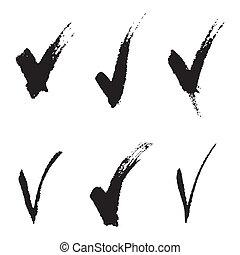Set of V signs