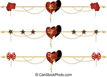 set of valentine dividers