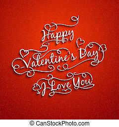 Set of valentine's and wedding typography.  illustration.