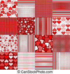 Set of Valentine's Day backgrounds