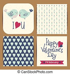 Set of Valentine's Day cards