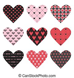 Set of Valentine's Day Hearts - in vector