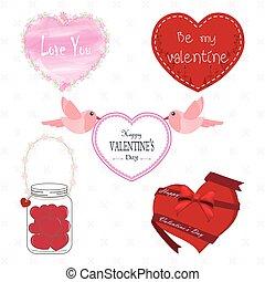 set of valentine's day illustration