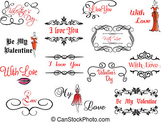 Set of Valentine's headlines - Set of Valentine's...