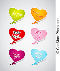 Set of Valentine's hearts.
