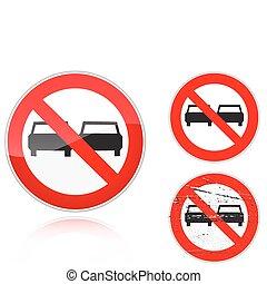 Set of variants a No adelanta - road sign