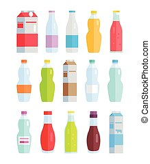 Set of Variety Bottles and Packs with Beverages