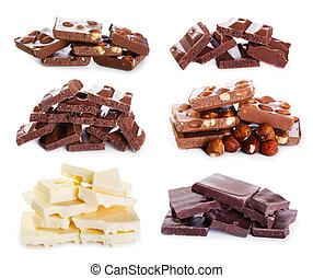 set of various chocolate