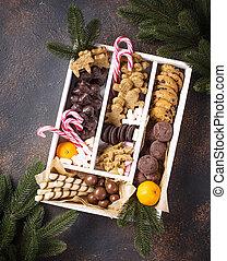 Set of various Christmas cookies