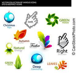 Set of various detailed design elements