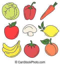 Set of various doodles