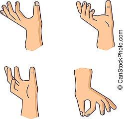 gestures of human hands