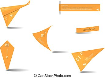 Set of various graphic elements with orange color