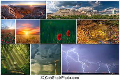Set of various landscapes