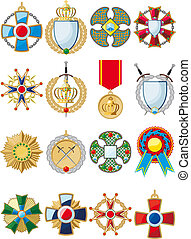 set of various medals - large set of various conceptual...
