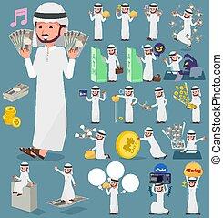 flat type Arab man money