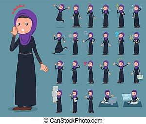 flat type Arab woman