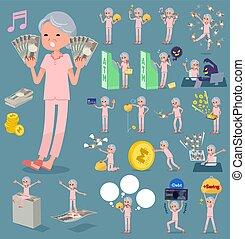 flat type patient grandmother money
