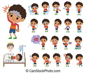 perm hair boy_sickness - Set of various poses of perm hair...