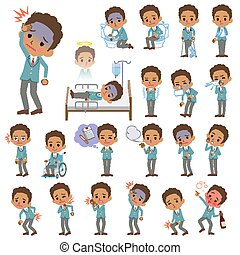 school boy Black_sickness - Set of various poses of school...