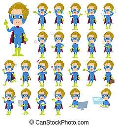super hero man Blue Green