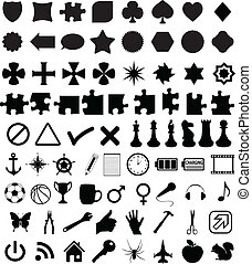 Set of various shapes and symbols