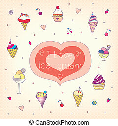ice-cream - set of various tasty ice-cream. vector...