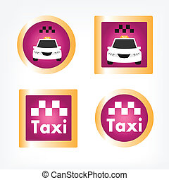 Set of various taxi icons