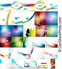 Set of Vector Abstract Backgrounds
