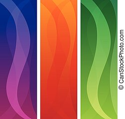 set of vector abstract banners