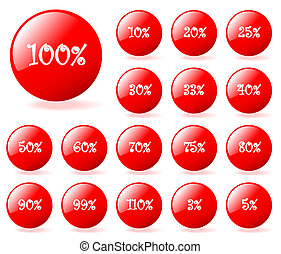 Set of vector aqua style discount buttons with shadow. Easy...