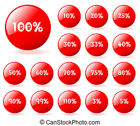Set of vector aqua style red discount buttons. Easy to edit, any size. More in my gallery.