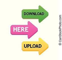 Set of Vector Arrows for Web Site