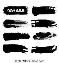 Set of vector art brushes.