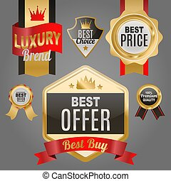 Set of vector badges shop product sale best price stickers and buy commerce advertising tag symbol discount promotion vector illustration.