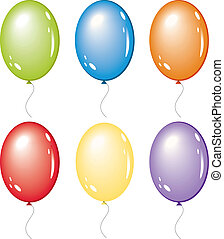 set of vector balloon isolated