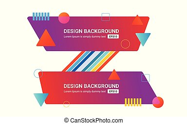 Set of vector banners. Color discount background