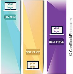 set of vector banners, web banners