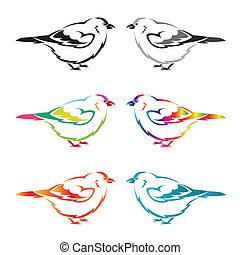 Set of vector bird