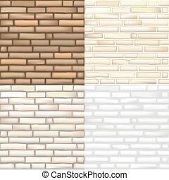 Set of vector brick textures