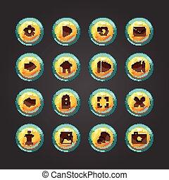 Set of vector button for game desig