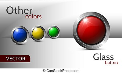 Set of vector buttons for web design.
