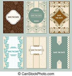 Set of vector card templates