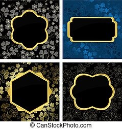 set of vector card  with geometric frames