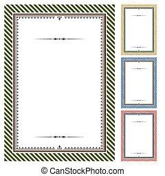 Set of vector certificates