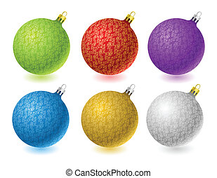 Set of vector Christmas balls
