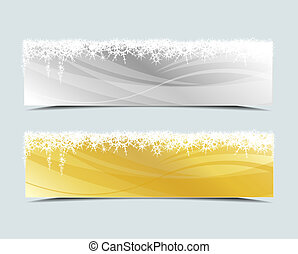 Christmas banner - Set of vector Christmas banner