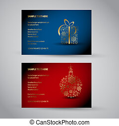 Set of vector christmas / New Year banners 2012