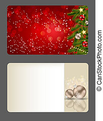 Set of vector christmas / New Year banners (cards)