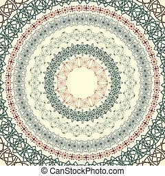 set  of vector circle vintage patterns,